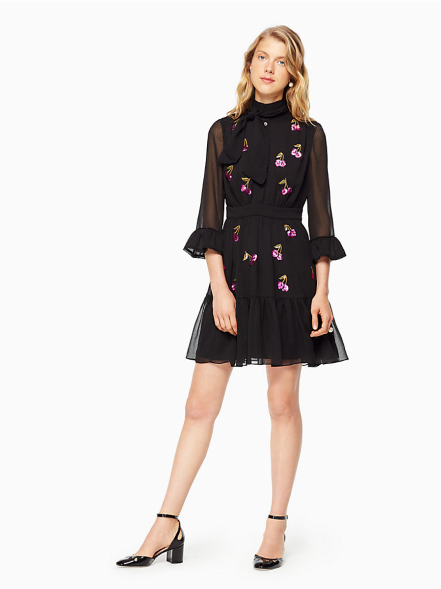 Kate Spade New York sequin cherries shirtdress, $428, available at Kate Spade