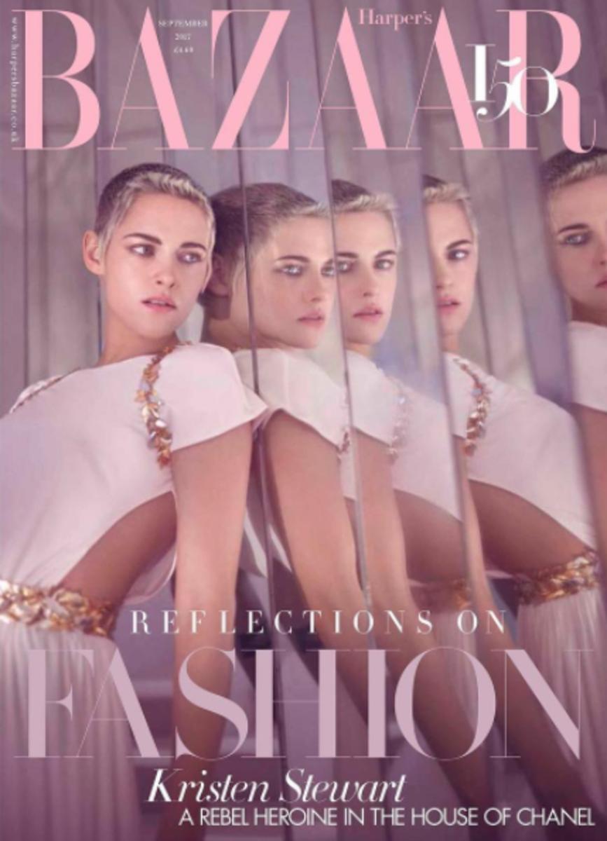 Kristen Stewart on September cover of 'Harper's Bazaar UK'. Photo: @bazaaruk/Instagram