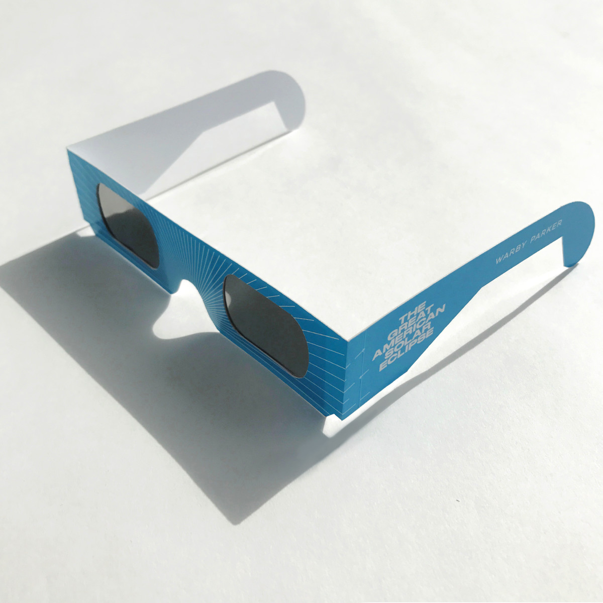 Warby Parker's Solar eclipse-viewing glasses. Photo: Warby Parker