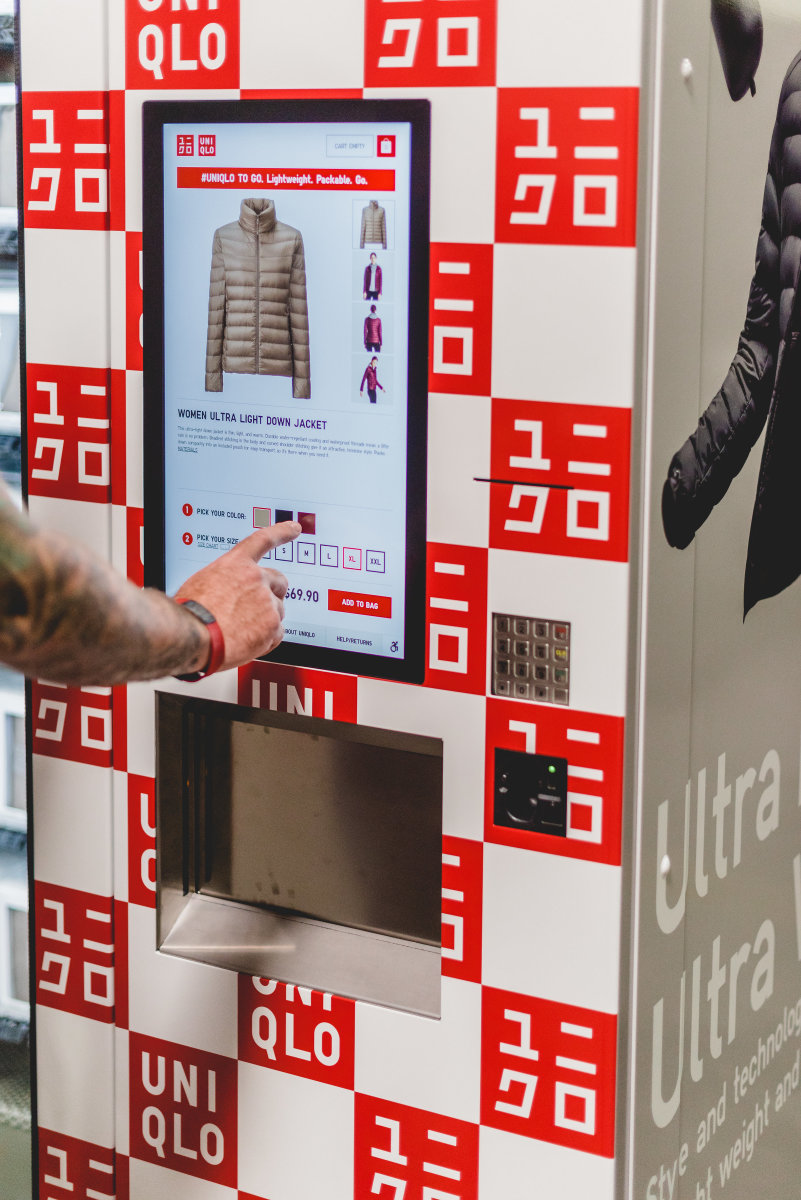 "A ""Uniqlo to Go"" machine. Photo: Uniqlo"