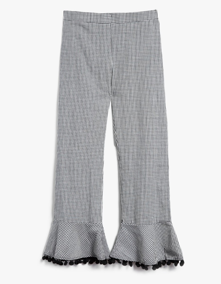 Farrow Pom Pom Pant in Gingham, $68, available at Need Supply Co.