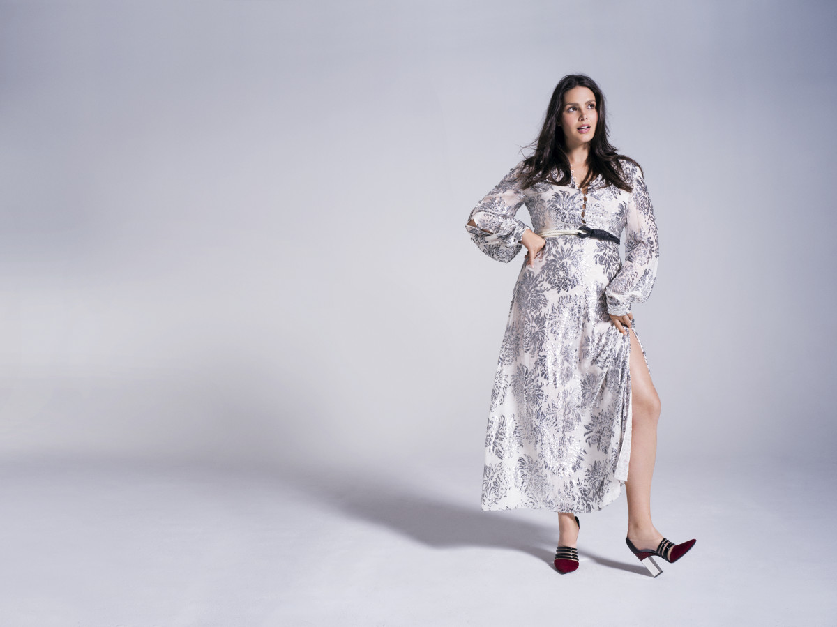Candice Huffine wearing Prabal Gurung for 11 Honoré. Photo: 11 Honoré