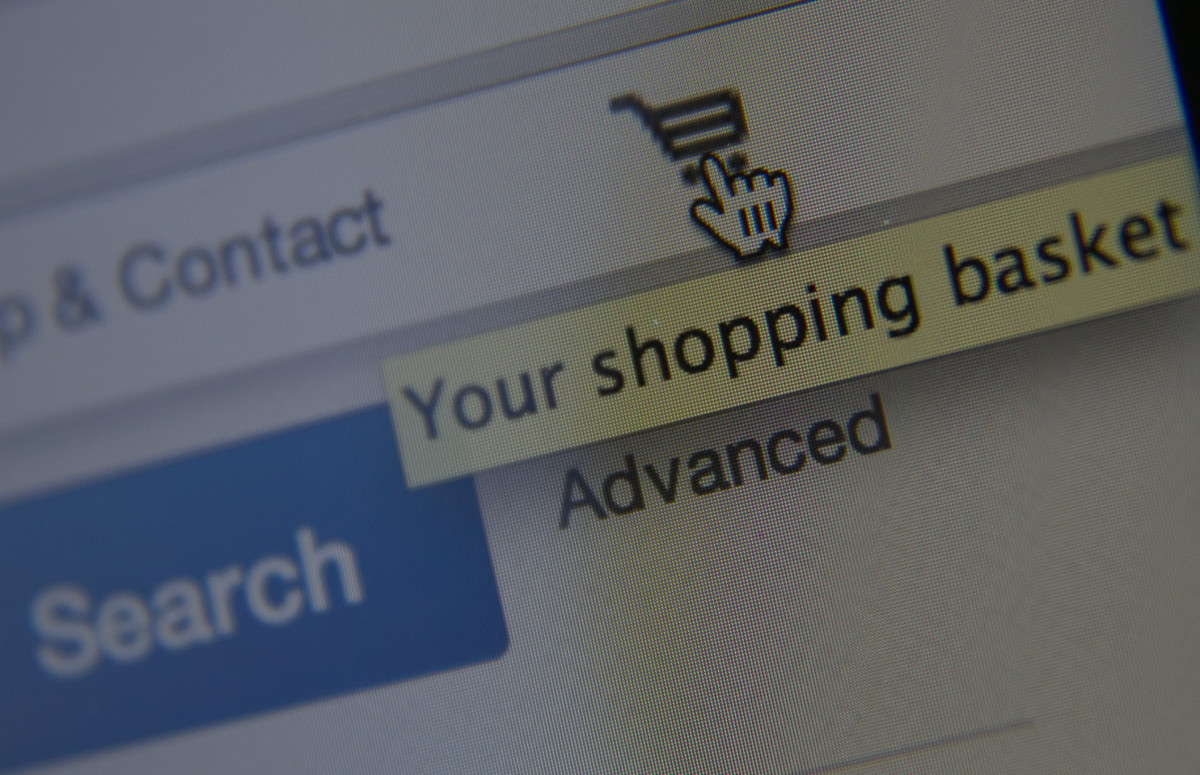 Shopping basket on eBay. Photo: Matt Cardy/Getty Images