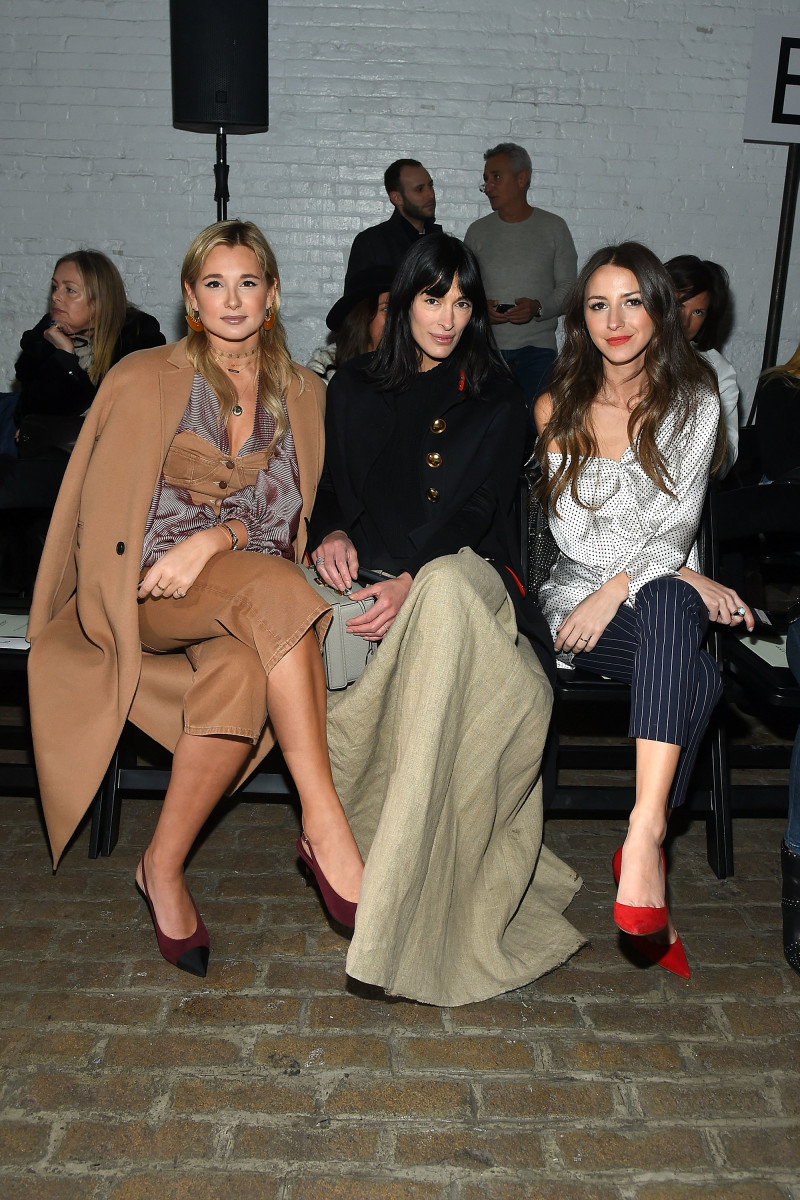 Danielle Bernstein, Athena Calderone and Arielle Charnas front row at the Hellessy Fall 2017 show. Photo: Ben Gabbe/Getty Images