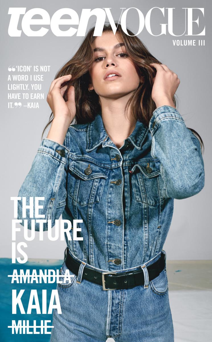 "Kaia Gerber on ""Teen Vogue""'s Volume III. Photo: Collier Schorr"