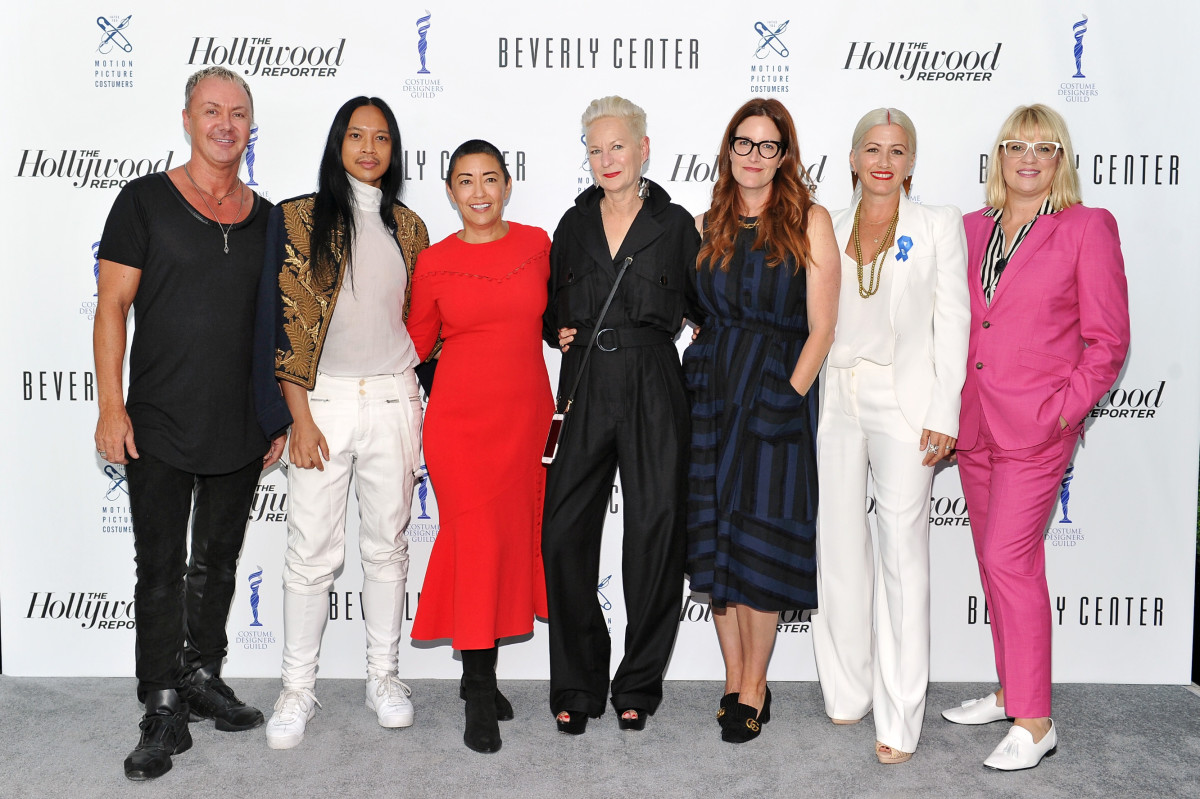 From L-R: Perry Meek, Zaldy Goco, Ane Crabtree, Lou Eyrich, Alix Friedberg, Trish Summerville and Marie Schley. Photo: Donato Sardella/Getty Images