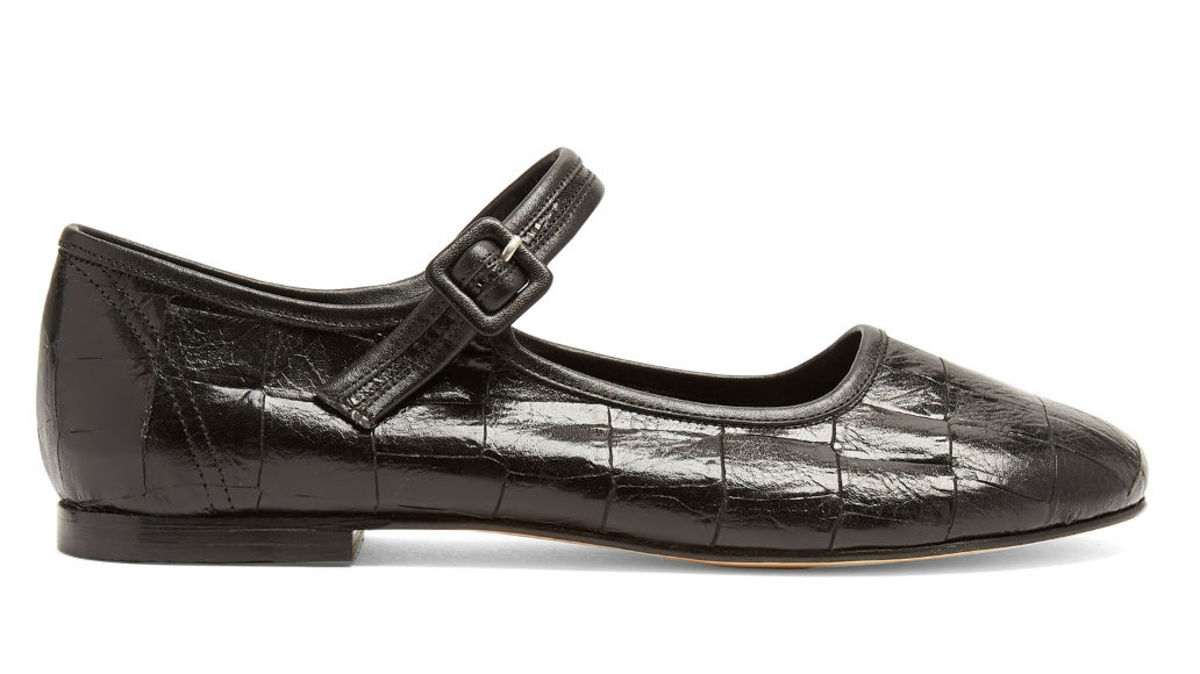 Maryam Nassir Zadeh Thelma crocodile-effect leather flats, $426, available at Matchesfashion.com.