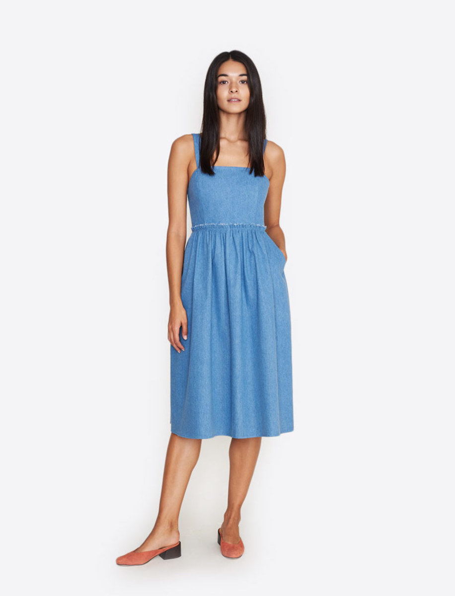 Bird denim sundress, $325, available at Bird