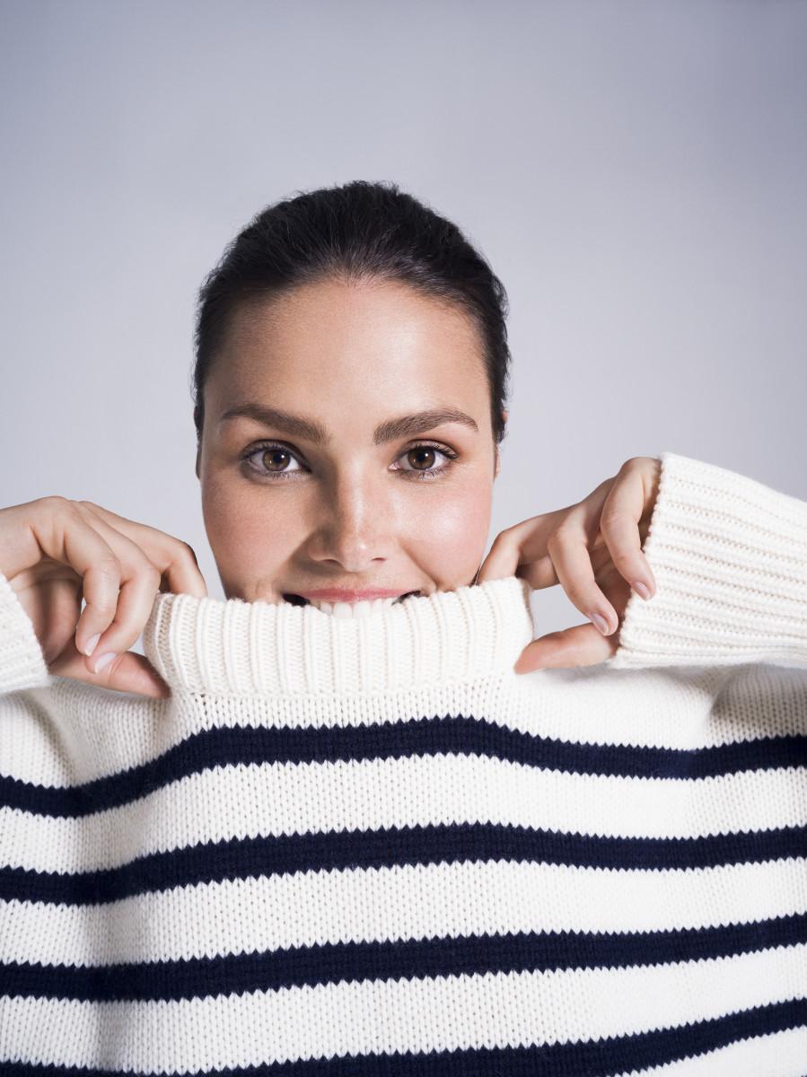 Candice Huffine in a La Ligne sweater. Photo: 11 Honoré