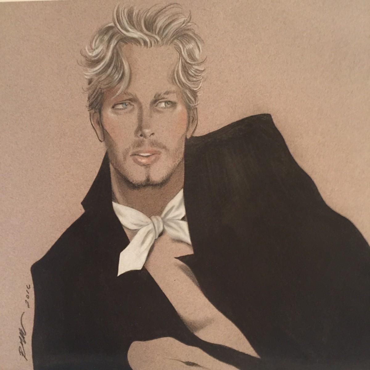A Robert W. Richards illustration of Eric Daman. Photo: Robert W. Richards/Courtesy Eric Daman