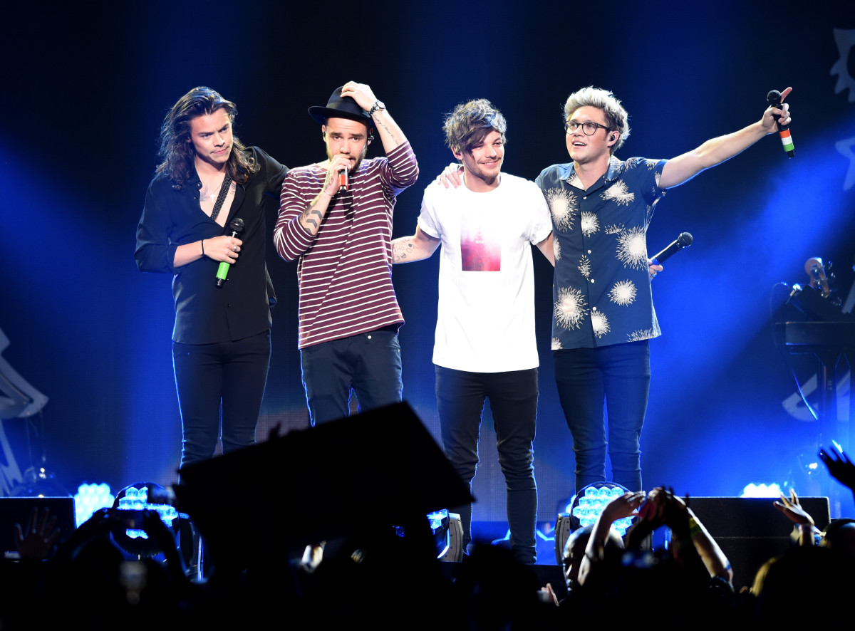One Direction (Harry Styles, Liam Payne, Louis Tomlinson and Niall Horan) perform during 106.1 KISS FM's Jingle Ball in December 2015 in Dallas. Photo: Cooper Neill/Getty Images