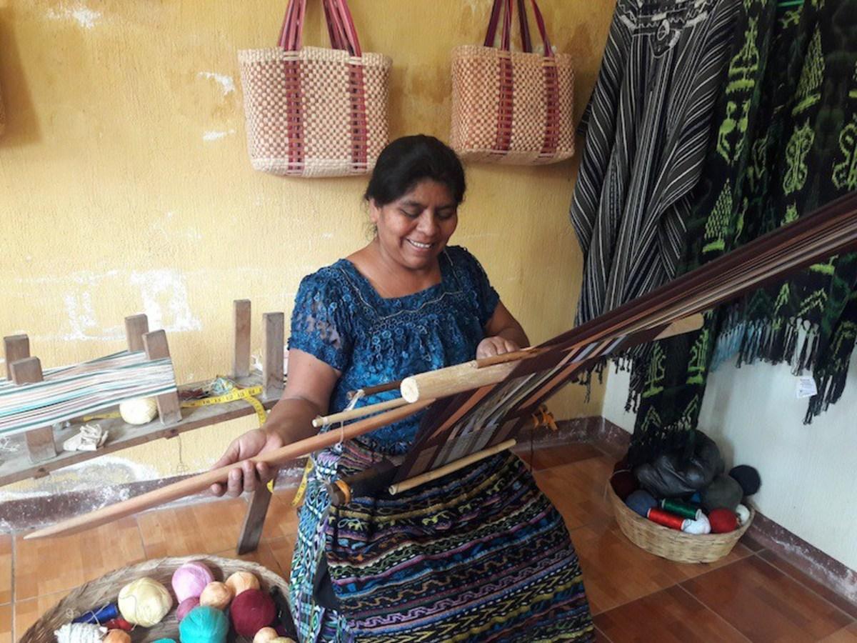 An artisan at work. Photo: Ethical Fashion Guatemala