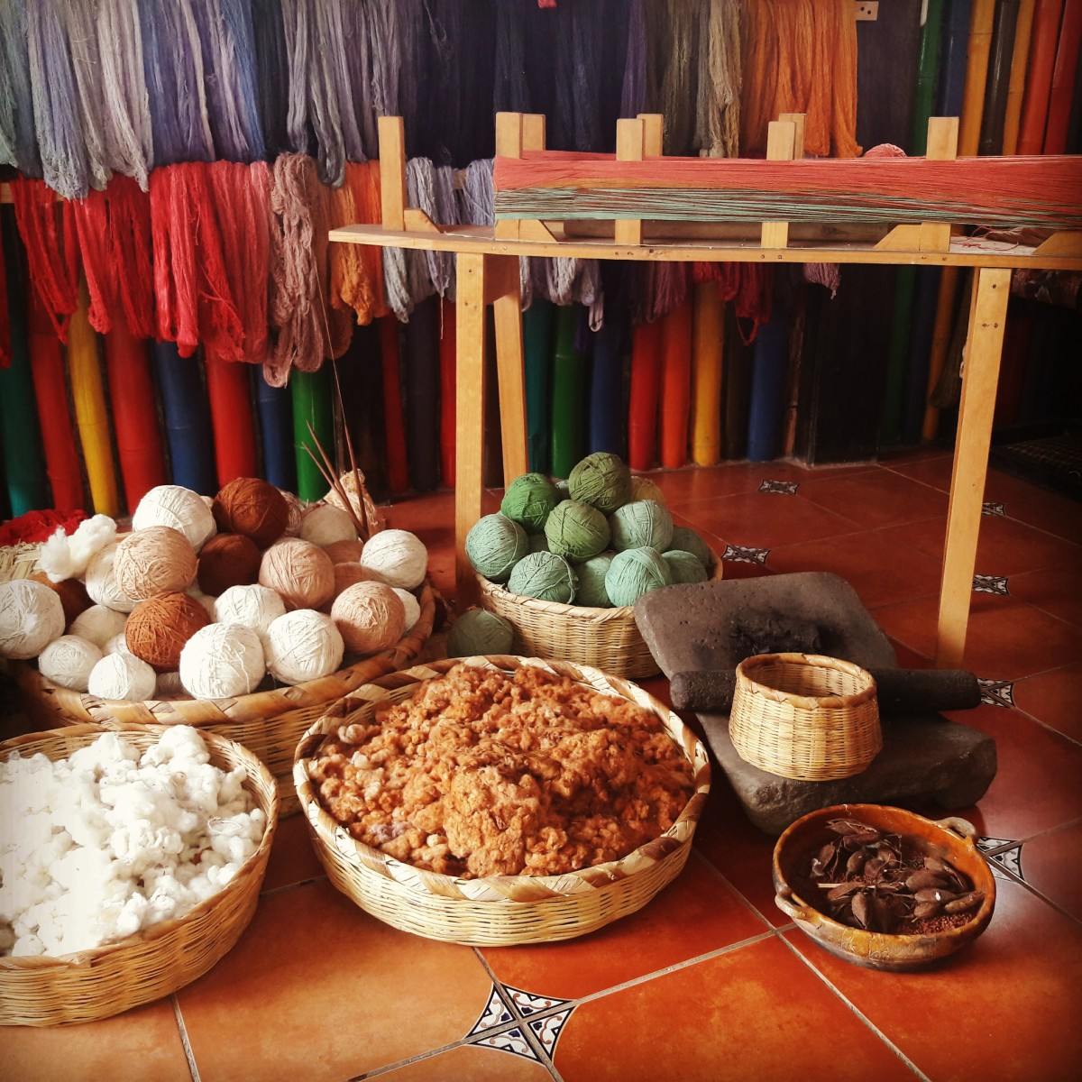 Natural dye and materials used in local handicrafts. Photo: Ethical Fashion Guatemala