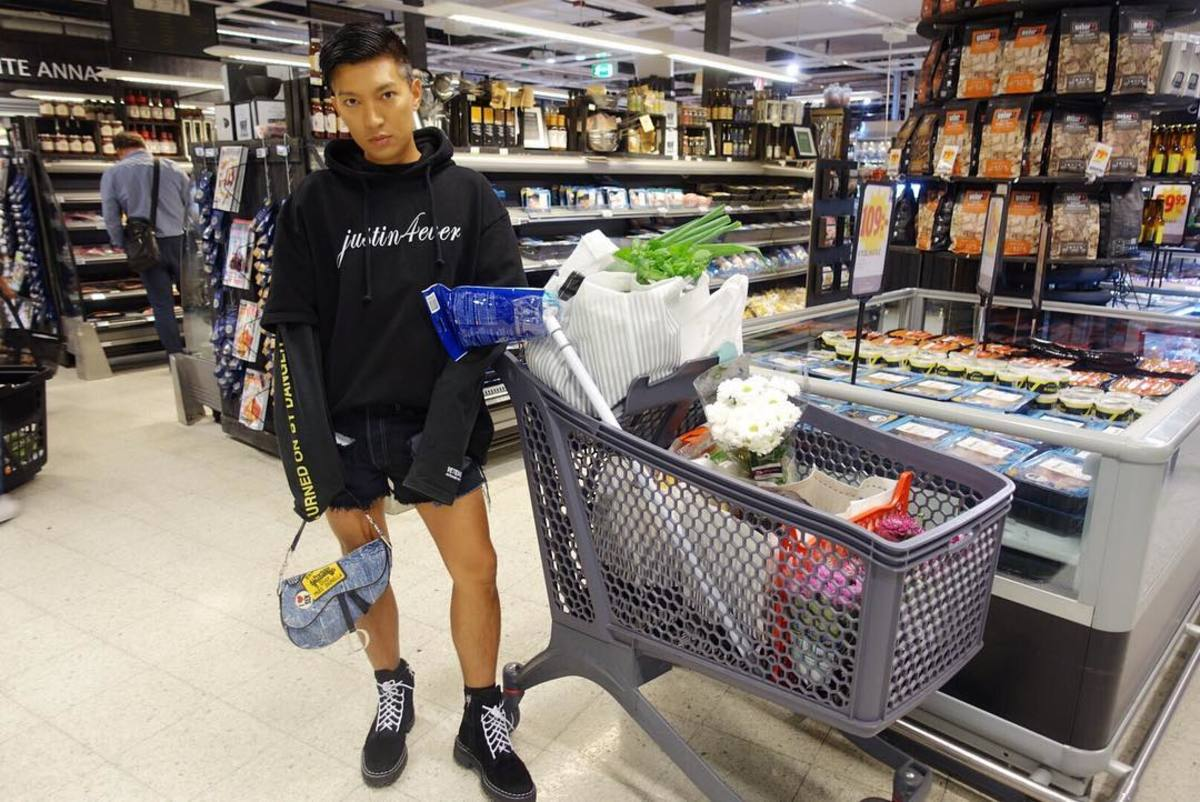 Bryanboy at the grocery store. Photo: @bryanboy/Instagram