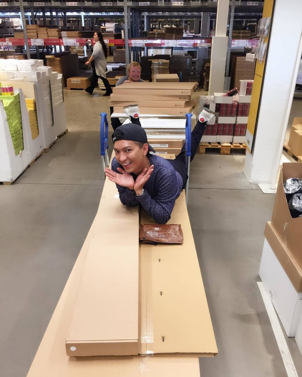 A non-sponsored post of Bryanboy at Ikea. Photo: @bryanboy/Instagram