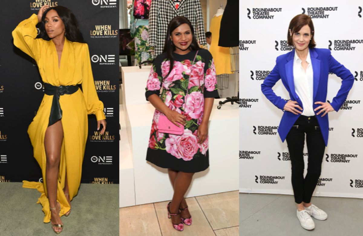 Niatia 'Lil' Mama' Kirkland, Mindy Kaling and Elizabeth McGovern. Photos: Rodin Eckenroth, Paul Archuleta and Walter McBride/Getty Images