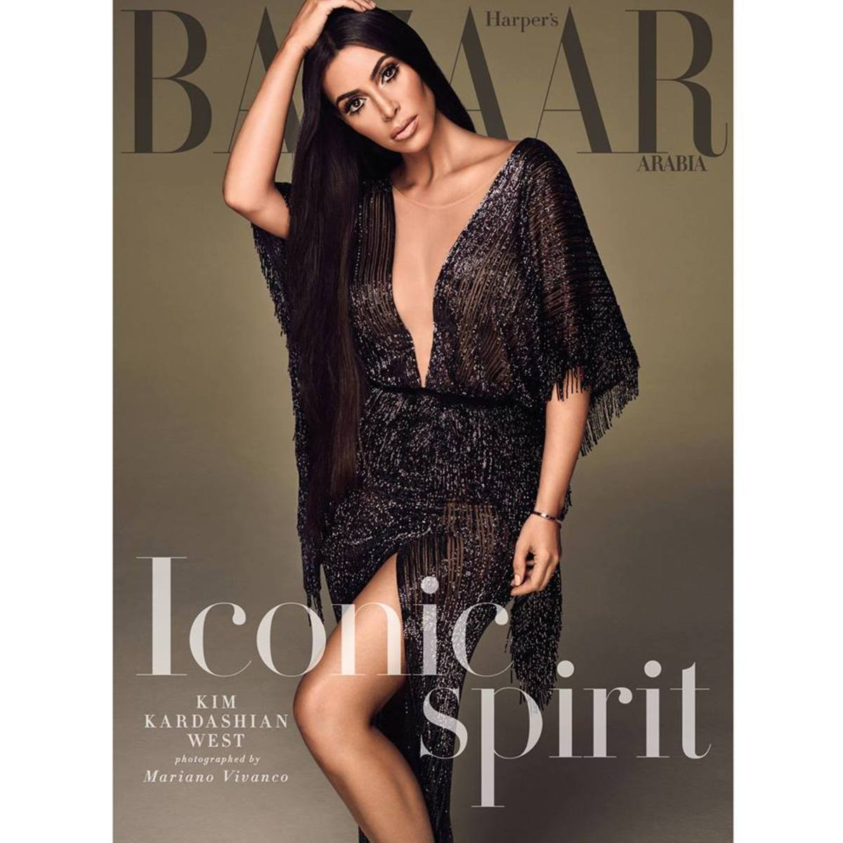 Kim Kardashian West for 'Harper's Bazaar' Arabia. Photo: Mariano Vivanco