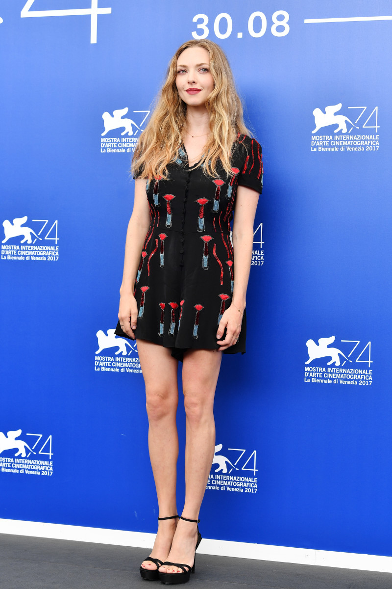 "Amanda Seyfried at the ""First Reformed"" photocall during the 74th Venice Film Festival. Photo: Pascal Le Segretain/Getty Images"