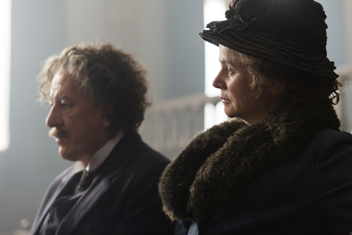 Albert (Geoffrey Rush) Elsa Einstein (Emily Watson). Photo: National Geographic/Dusan Martincek