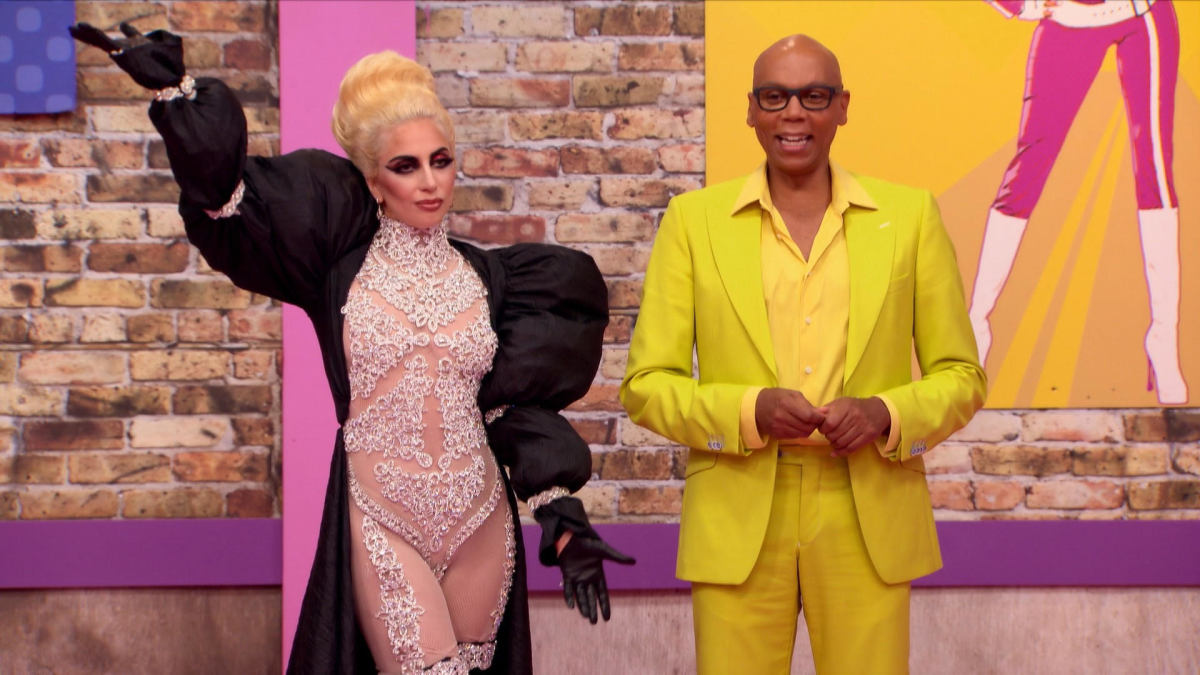 Lady Gaga and RuPaul. Photo: Logo TV