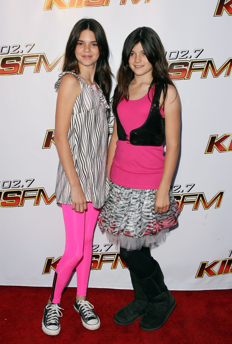Kendall and Kylie Jenner at KIIS-FM's 2008 Wango Tango concert in Irvine, California. Photo: Noel Vasquez/Getty Images