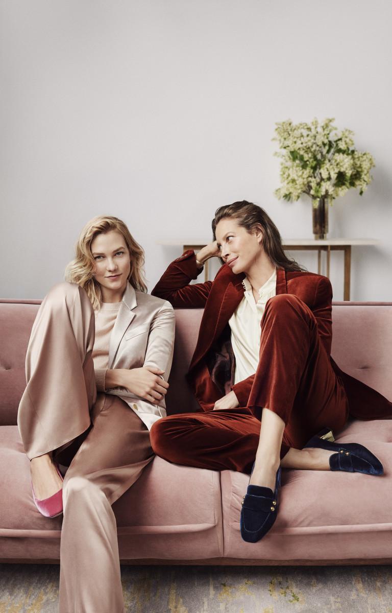 Karlie Kloss and Christy Turlington for Cole Haan. Photo: Cass Bird
