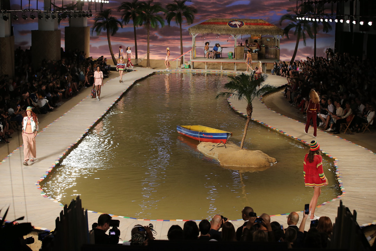 A view of Tommy Hilfiger's Spring 2016 show at Basketball City during New York Fashion Week. Photo: Neilson Barnard/Getty Images for Tommy Hilfiger