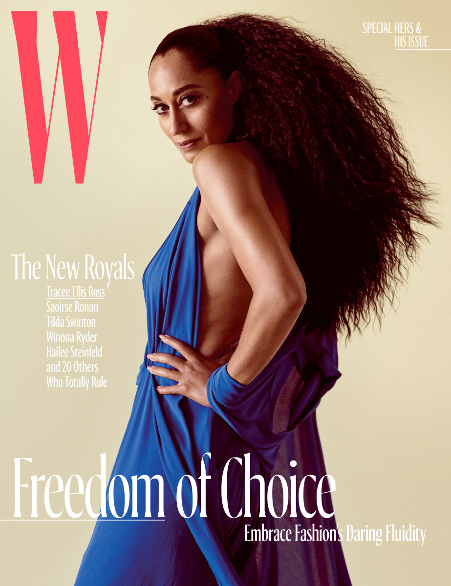 Tracee Ellis Ross on W Magazine's October cover. Photo: Mario Sorrenti