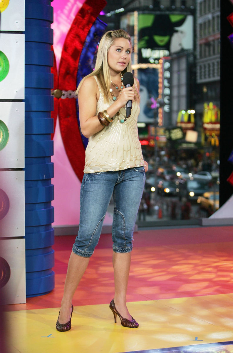 Lauren Conrad hosting TRL in 2005. Photo: Getty Images