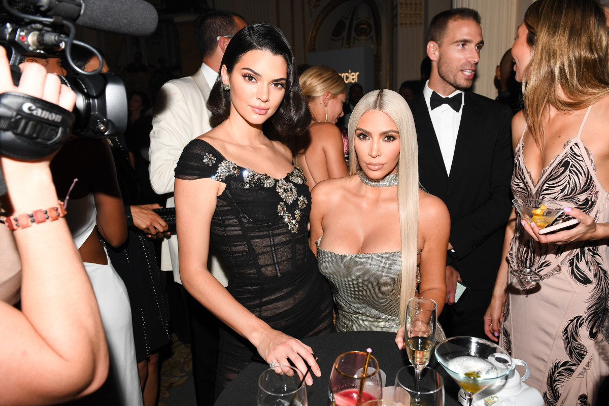 Kendall Jenner and Kim Kardashian enjoy a little sister time. Photo: courtesy BFA