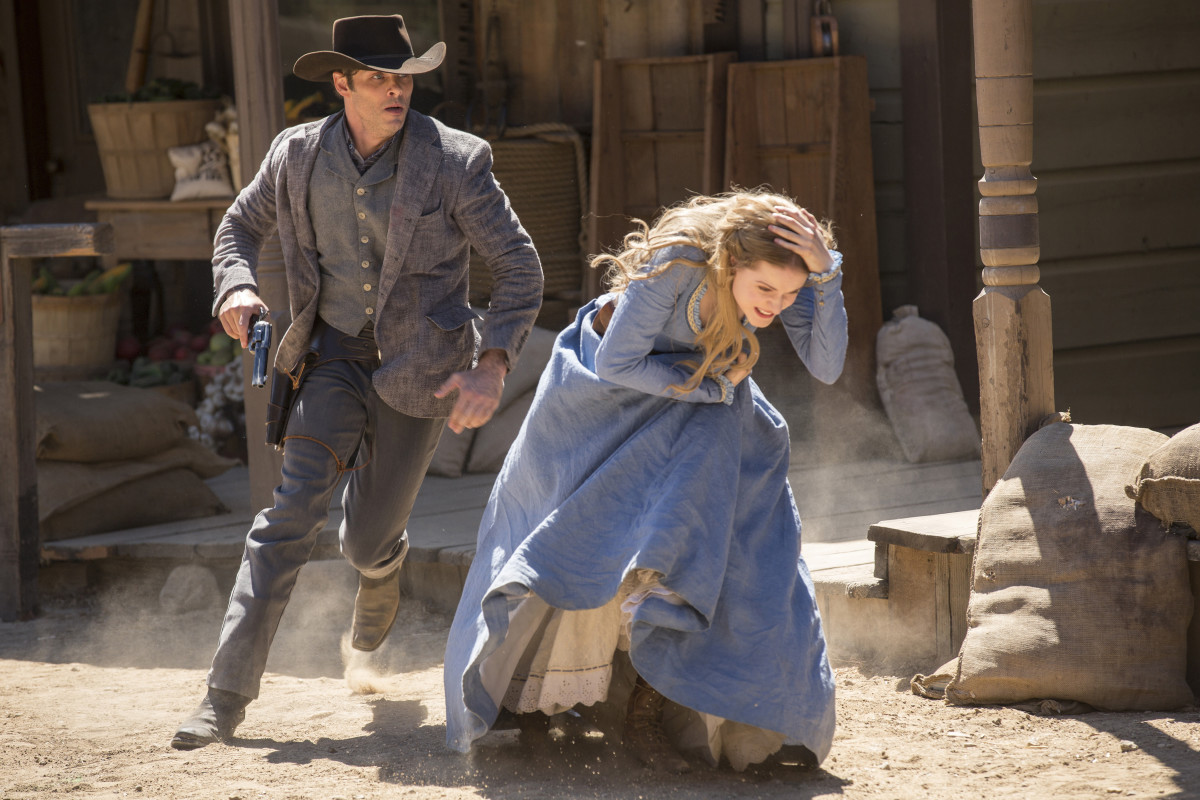 Teddy (James Marsden) and Dolores (Evan Rachel Wood). Photo: John P. Johnson/HBO