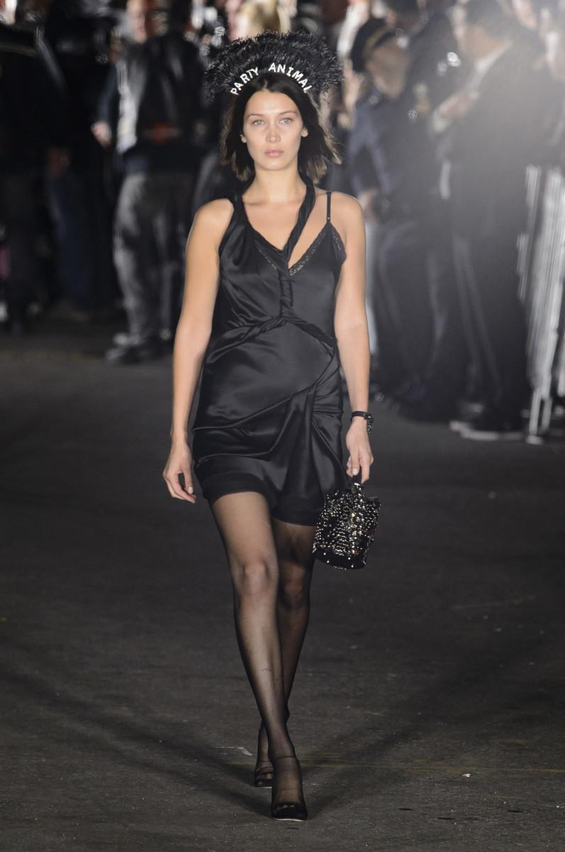 Bella Hadid walks Alexander Wang's Spring 2018 show. Photo: Imaxtree