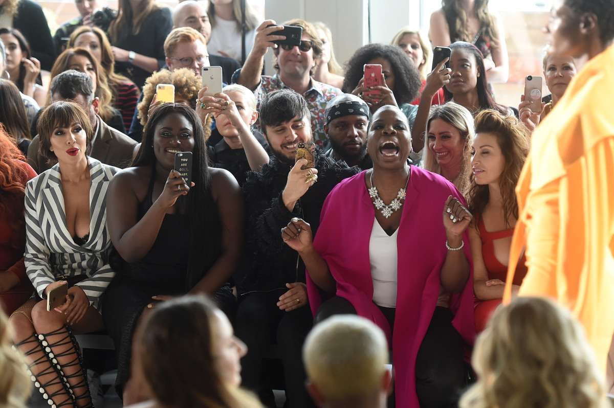 Leslie Jones front row at Christian Soriano's Spring 2018 show. Photo: Jamie McCarthy/ Getty Images