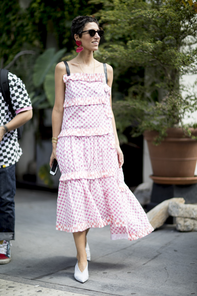 Yasmin Sewell at New York Fashion Week. Photo: Imaxtree