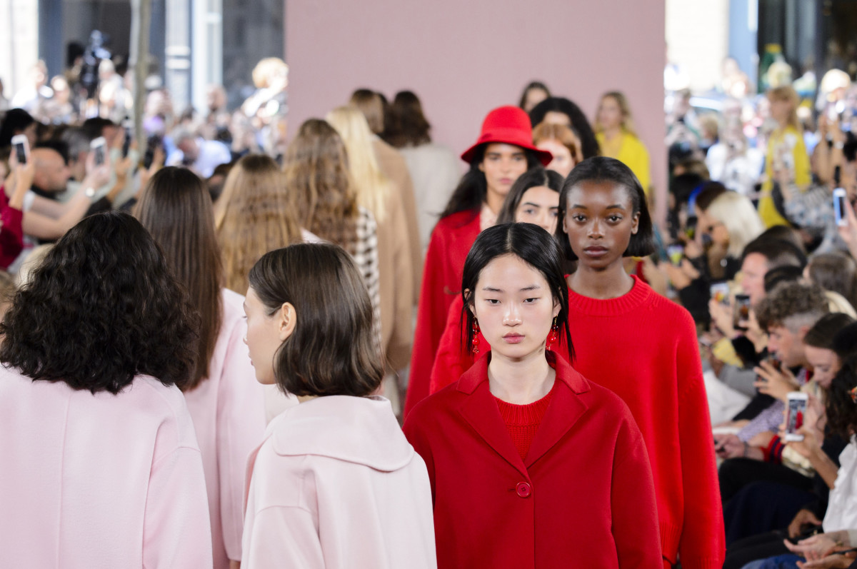 Looks from Mansur Gavriel's Fall 2017 collection. Photo: Imaxtree
