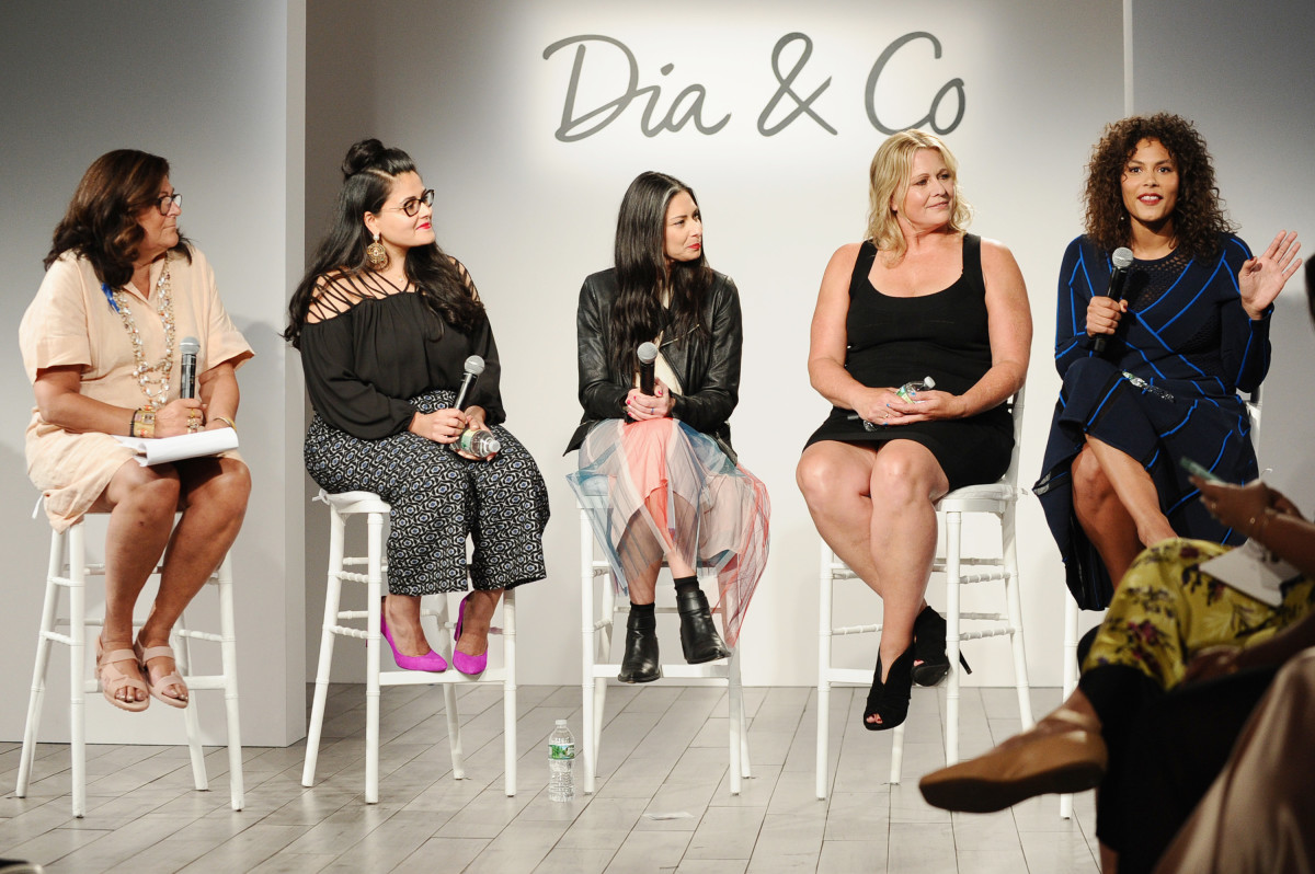 Panel at the 3rd annual theCURVYcon presented by Dia&co. Photo: Daniel Zuchnik/Getty Images