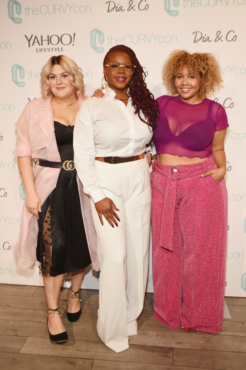Nicolette Mason, Claire Sulmers and Gabi Gregg at the 3rd annual theCURVYcon presented by Dia&co. Photo: Bryan Bedder/Getty