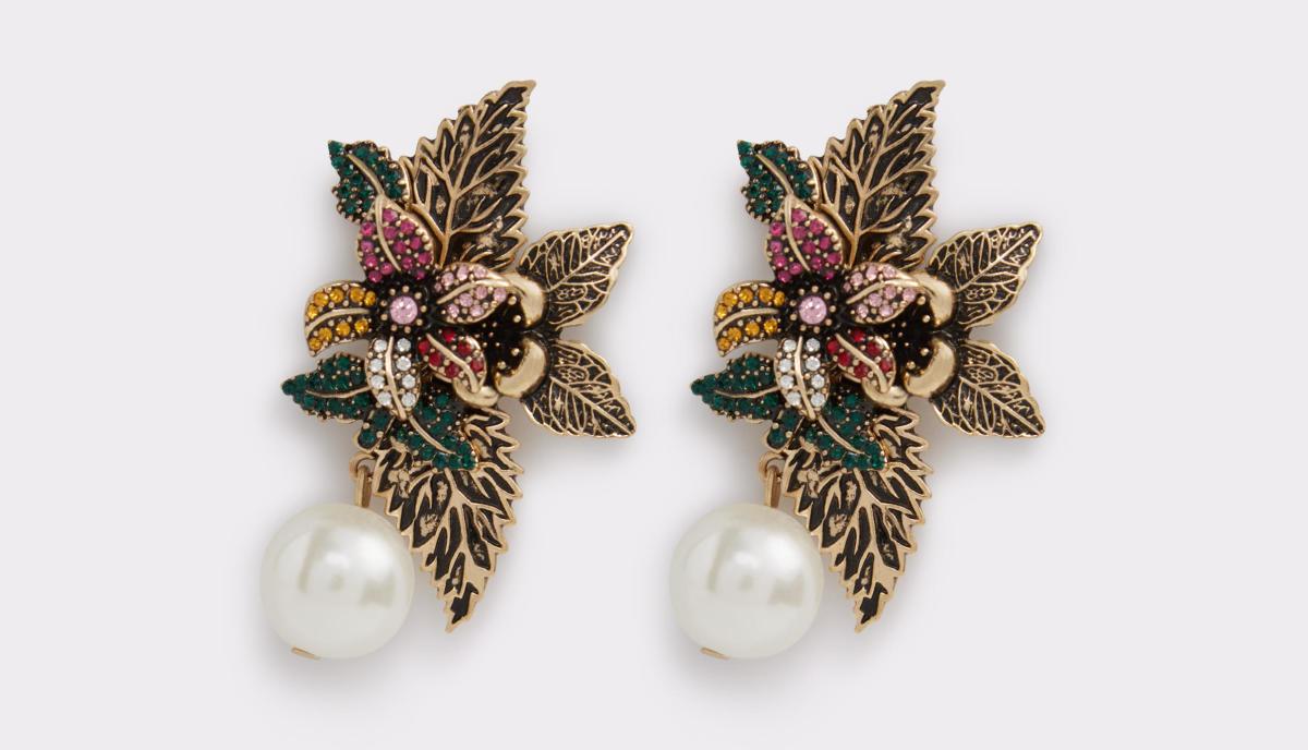 Aldo Asawiel earrings, $15, available at Aldo