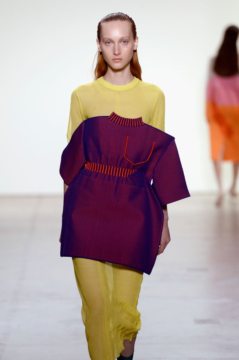 A look from Zoe Champion's collection in the Parsons MFA show. Photo: Fernanda Calfat/Getty Images