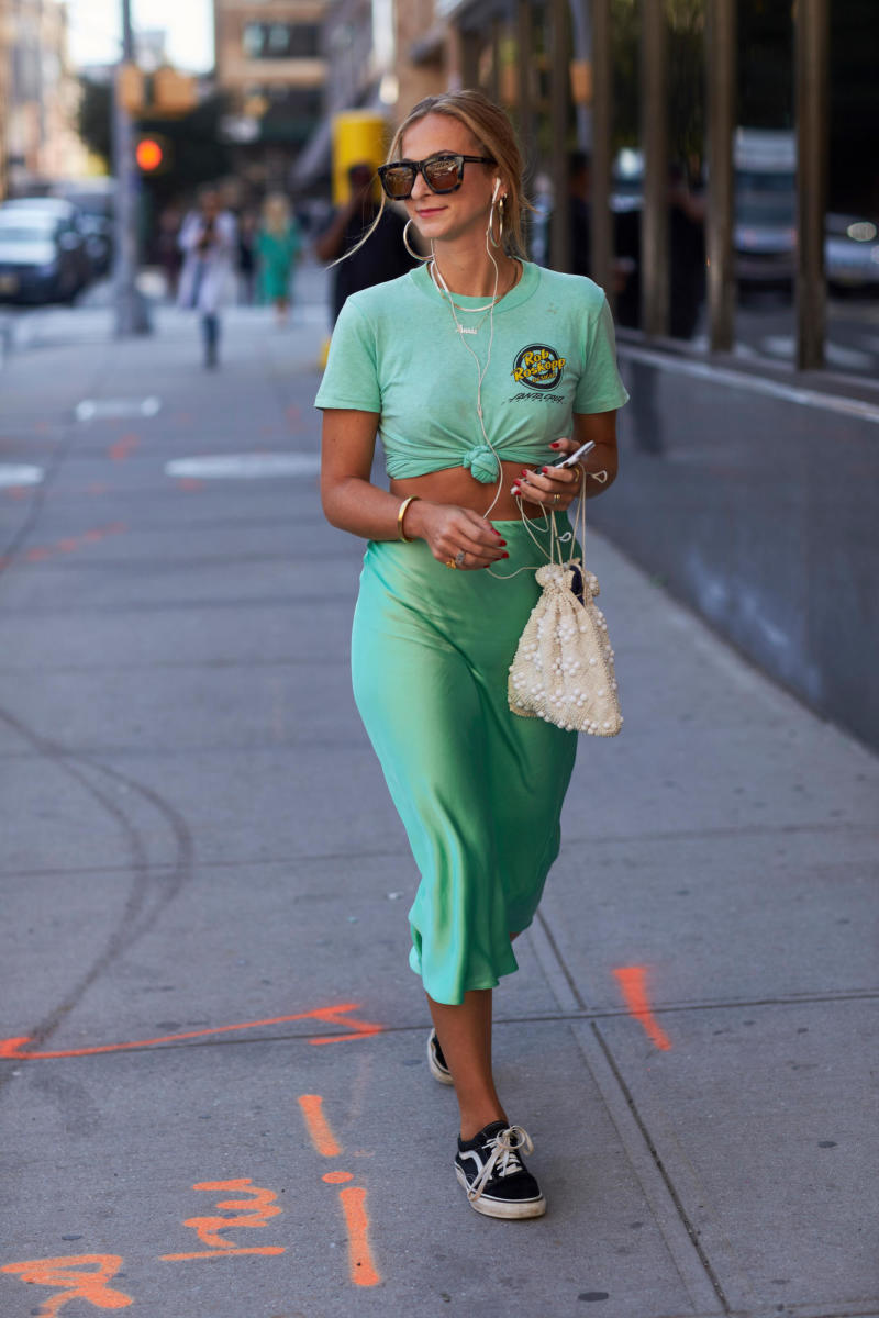 Annie Georgia Greenberg on day 2 of this New York Fashion Week. Photo: Angela Datre