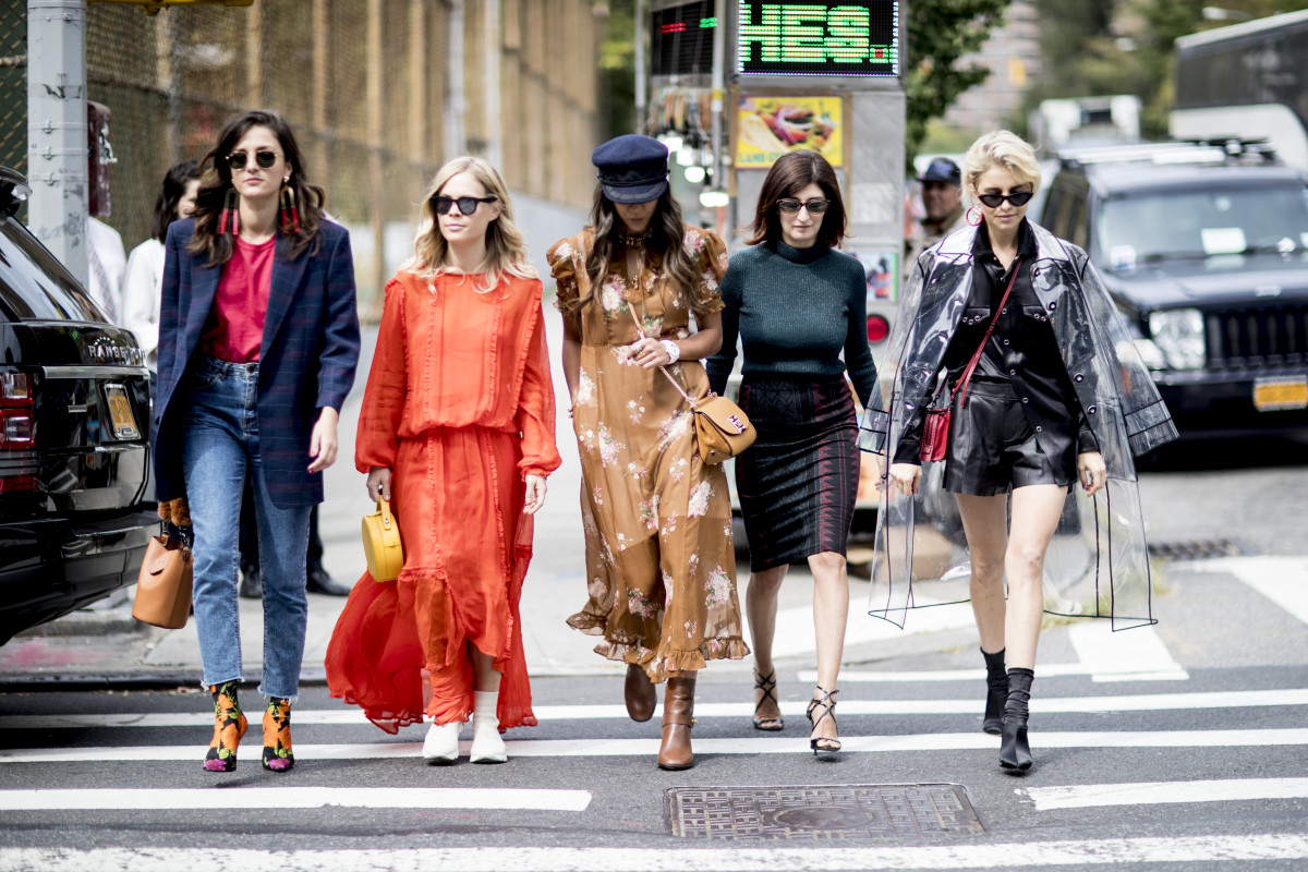 Ain't nobody messing with my NYFW clique. Photo: Imaxtree