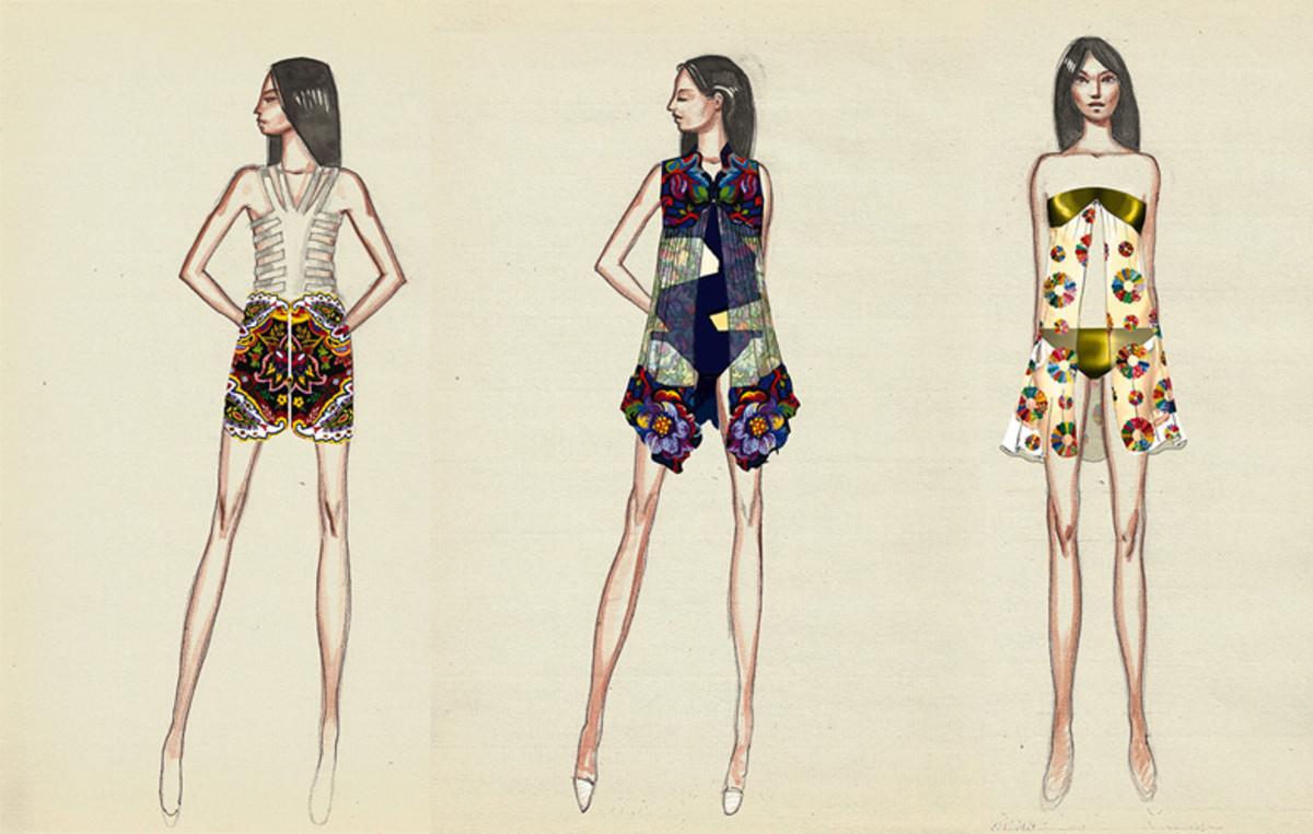 Sketches from Armando Costa's collection. Courtesy Istituto Marangoni.