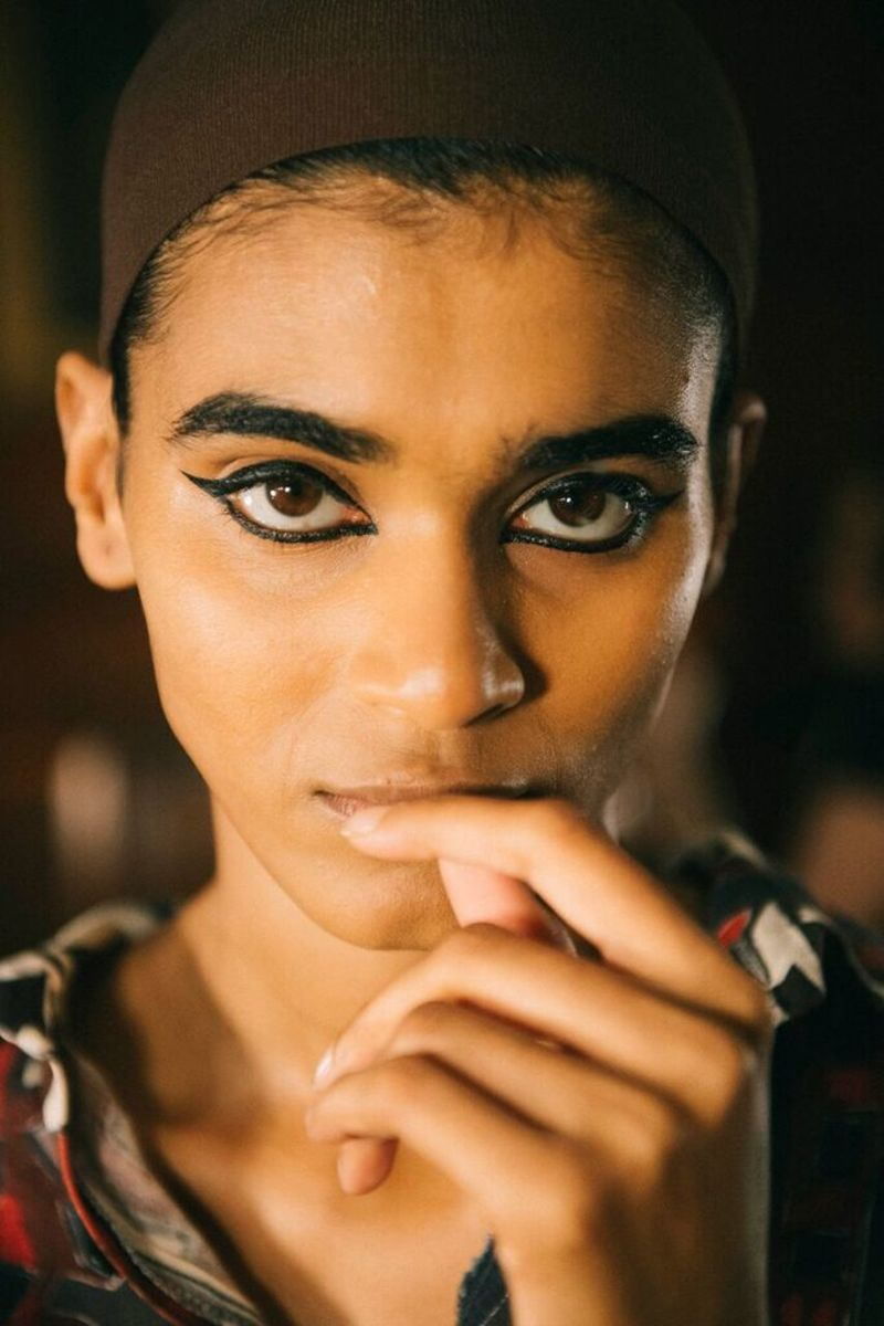 The makeup look for Marc Jacobs Spring 2018. Photo: Shana Trajanoska/Marc Jacobs Beauty
