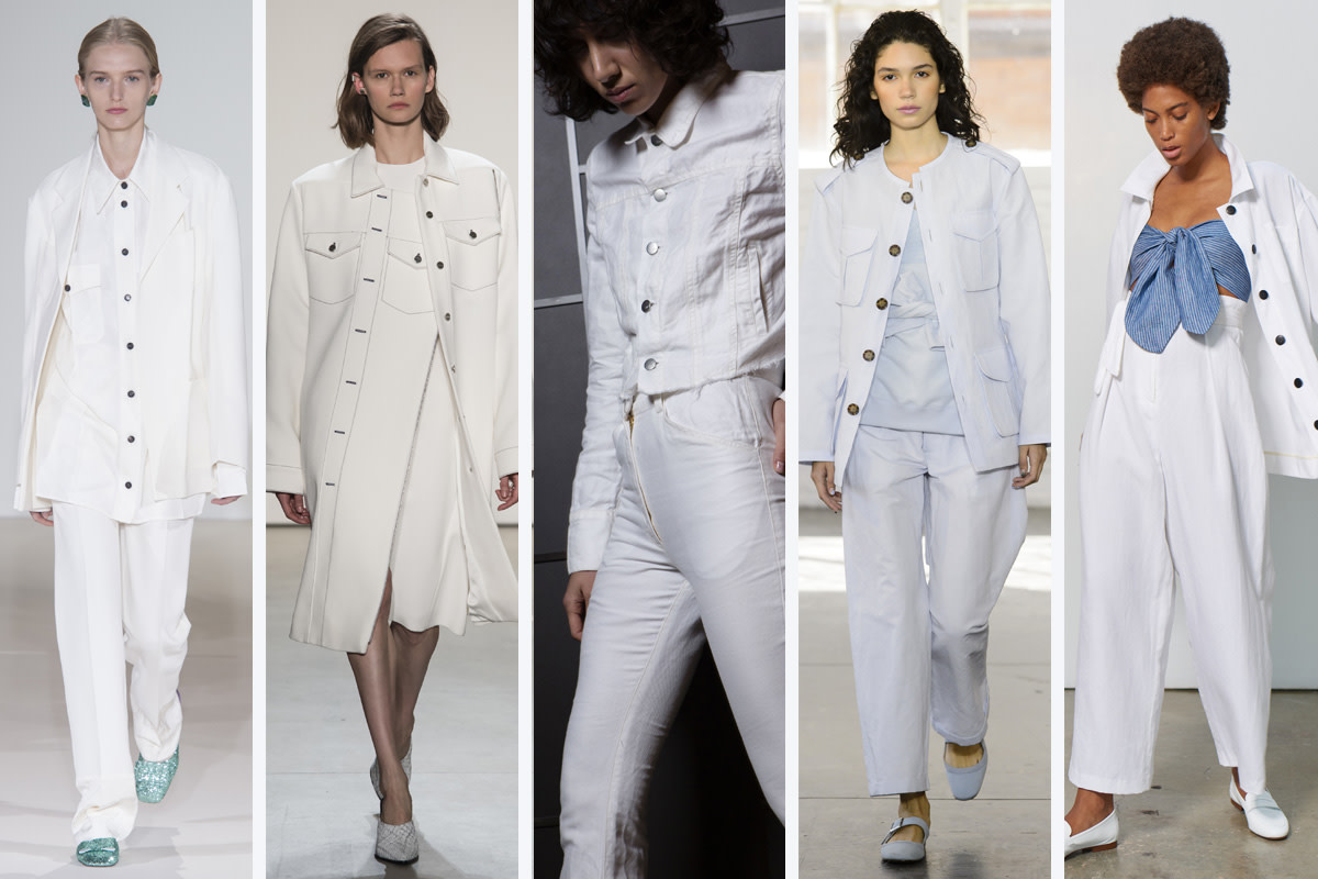 (L-R): Victoria Beckham, Dion Lee, Kes, Creatures of Comfort and Mara Hoffman. Photos: Imaxtree
