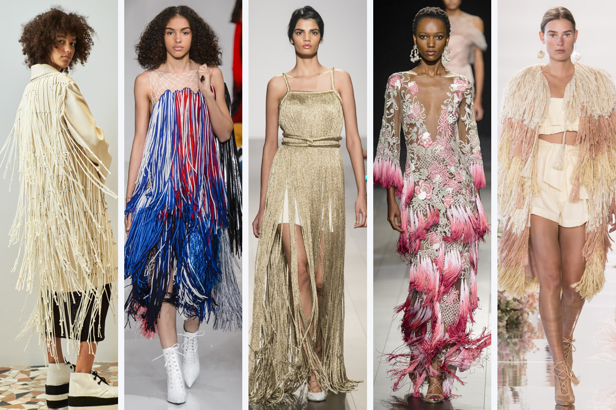 (L-R): Edun, Calvin Klein, John Paul Ataker, Marchesa and Ulla Johnson. Photos: Imaxtree