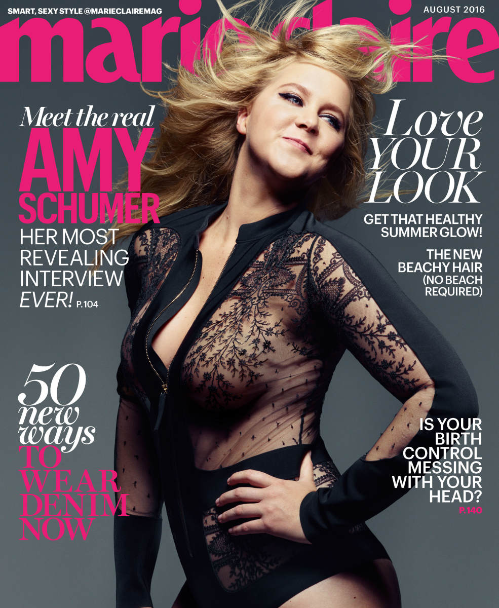 Amy Schumer on the August 2016 cover of 'Marie Claire'. Photo: Mark Seliger