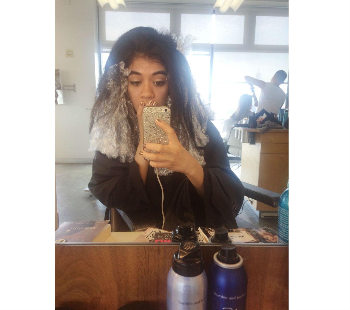 Plastic wrap > actual hair. Photo: Me