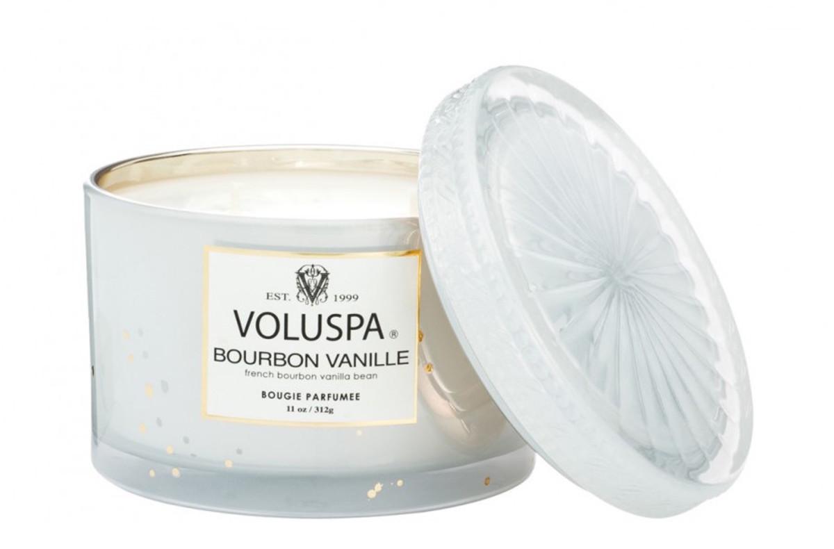Voluspa Corta Maison Candle in Bourbon Vanille, $28, available at Voluspa.com.