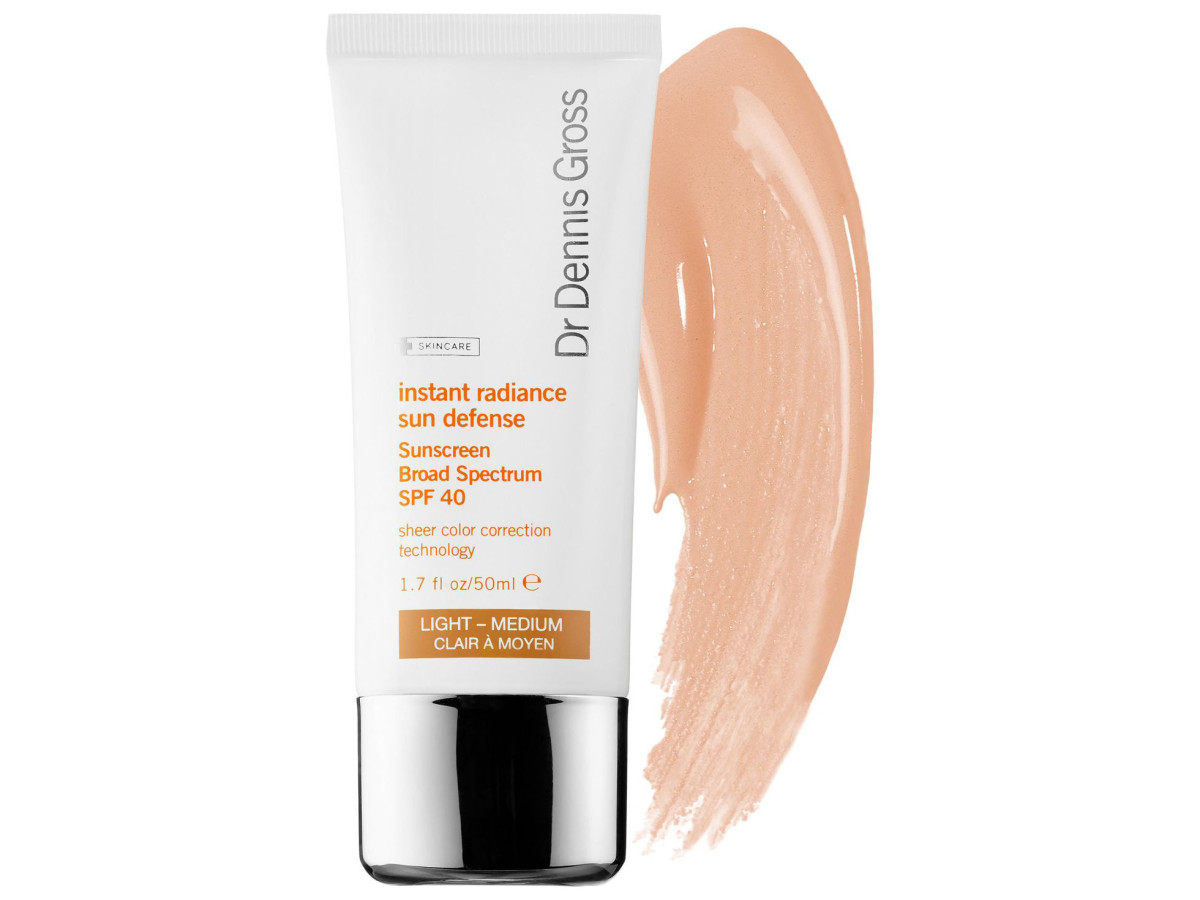 Dr. Dennis Gross Instant Radiance Sun Defense Sunscreen Broad Spectrum SPF 40, $42, available at Sephora