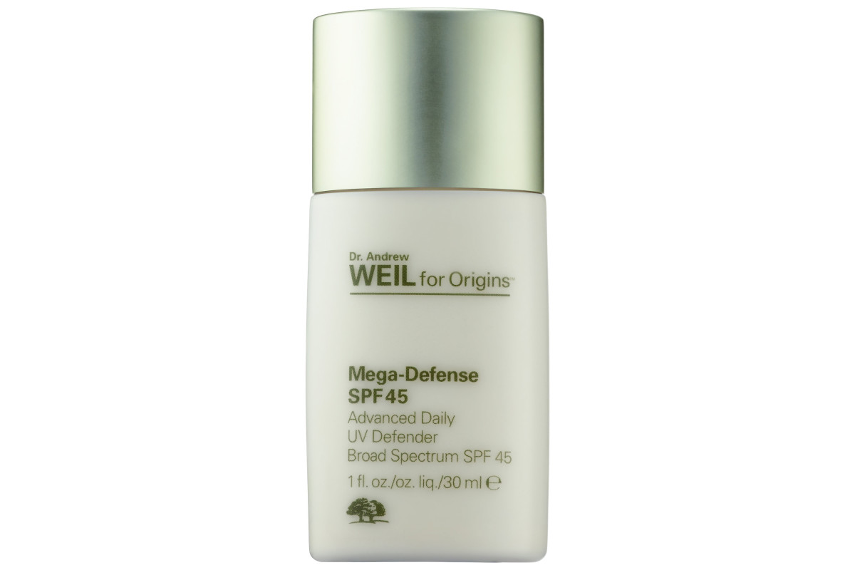 Dr. Andrew Weil For Origins Mega-Defense Advanced Daily UV Defender SPF 45, $41, available at Sephora